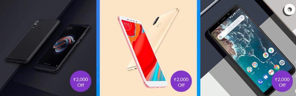 Mi Phones Rs 2000 off diwali with mi sale