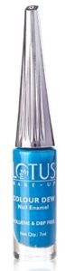 Lotus Makeup Colour Dew Nail Enamel, Indigo, 7ml