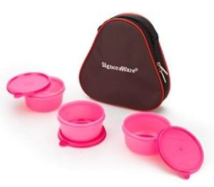 Signoraware Smart Plastic Lunch Box with Bag, 310ml
