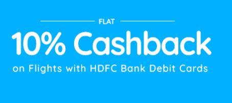 HDFC bank flight offer