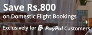 goibibo paypal flight offer