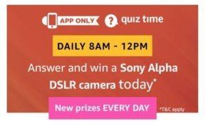 sony alpha dslr camera amazon quiz