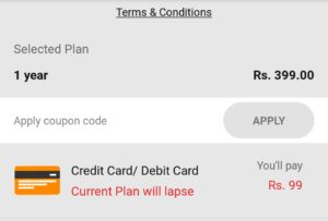 Gaana subscription Proof