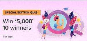 Amazon Special Edition Quiz Women's day