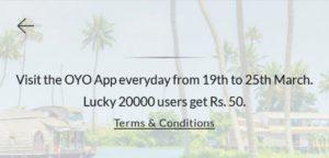 Oyo app open offer