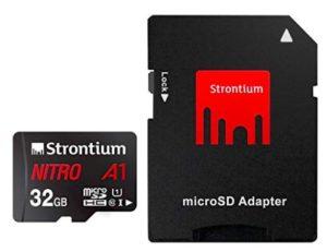 Strontium Nitro A1 32GB Micro SDHC Memory Card A1 UHS-I U1 Class 10