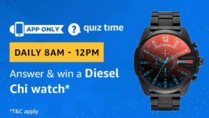 Amazon Quiz Answers Today Win Diesel Chi Watch