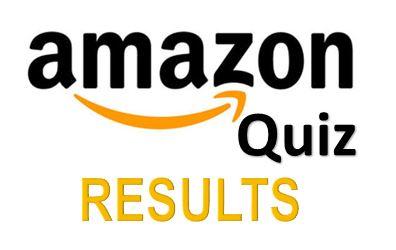 Amazon Quiz Results
