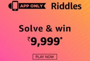 Amazon Riddles Quiz Win Rs 9999 Amazon Pay Balance