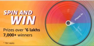 Amazon Summer Sale Spin and win prizes over 6 lakhs