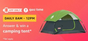 Answer and win camping tent