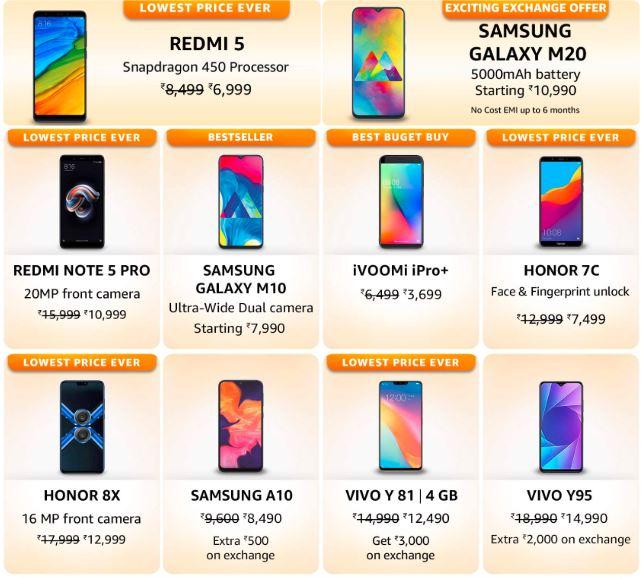Bestselling budget smartphones Amazon FAB PHONES FEST