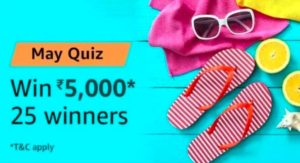 Amazon May Quiz Answers Win Rs 5000 Amazon Pay Balance
