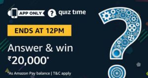 Amazon Quiz Answers Today win Rs 20000 Amazon Pay Balance