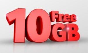 Vodafone free data 10GB 4G