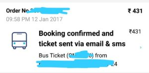 paytm bus ticket booking proof