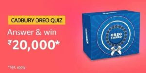 Amazon Cadbury Oreo Quiz Answers Win Rs 20000