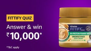 Amazon Fittify Quiz Answers Win Rs 10000