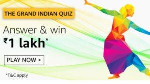 Amazon Grand Indian Quiz Answers 15 Aug