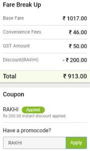 Railyatri flat Rs 200 off smartbus tickets proof