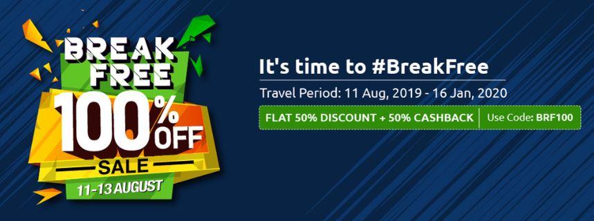 Zoomcar Breakfree sale free bookings