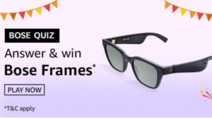 Amazon Bose Quiz Answers Today Win Bose Frames
