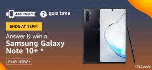 Amazon Quiz Answers Today Win Samsung Galaxy Note 10+