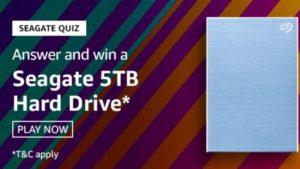 Amazon Seagate Quiz Answers Today Win Seagate 5TB Hard Drive