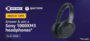 Amazon-Sony-1000XM-Headphones-Quiz-Answers