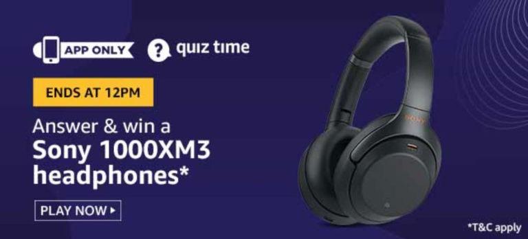 Amazon-Sony-1000XM-Headphones-Quiz-Answers