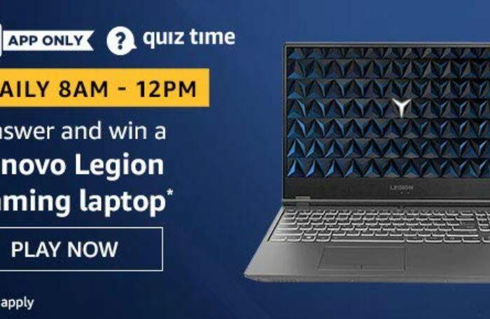 Amazon Quiz Answers Today Win Lenovo Legion Gaming Laptop