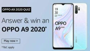 Amazon Oppo A9 2020 Quiz Answers Win Oppo A9