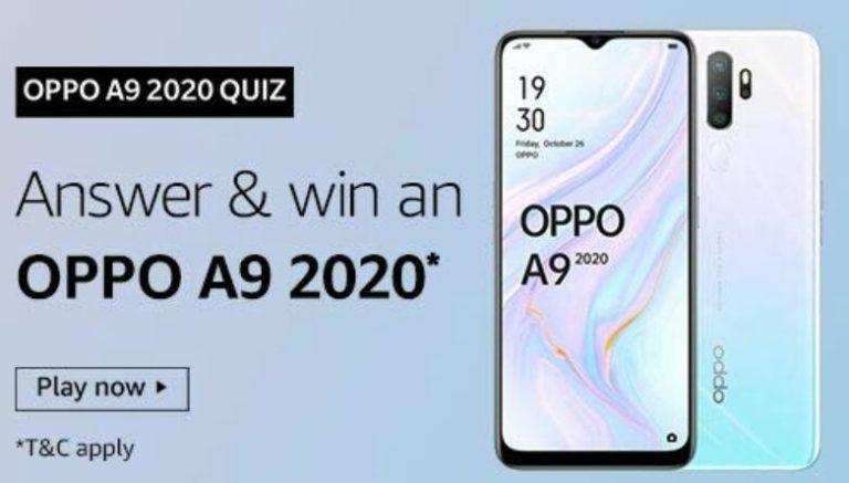 Amazon Oppo A9 2020 Quiz Answers Win Oppo A9