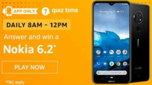 Amazon Quiz Answers Today Win Nokia 6.2