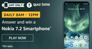 Amazon Quiz Answers Today Win Nokia 7.2 Smartphone
