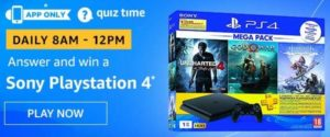 Amazon Quiz Answers Today Win Sony PlayStation 4