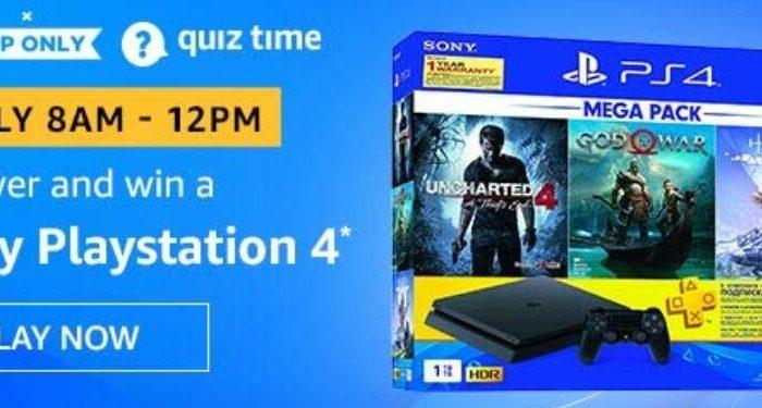 Amazon Quiz Answers Today Win Sony PlayStation 4