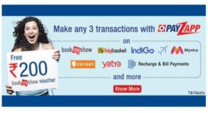 Payzapp Free Bookmyshow Voucher