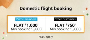 Amazon Great Indian Sale Flight Booking offer