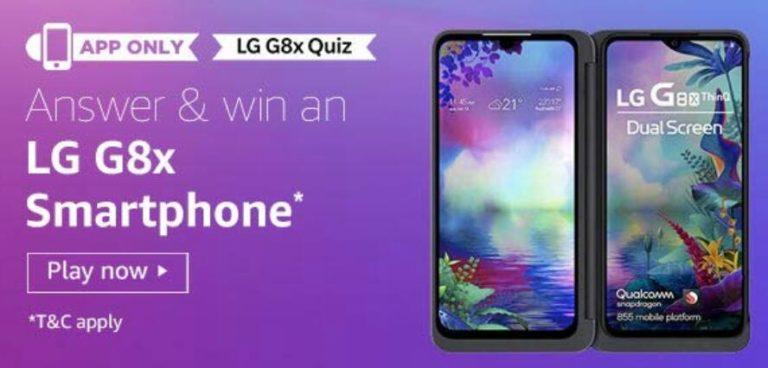Amazon LG G8x Quiz Answers