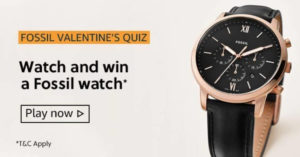 Amazon Fossil Valentine Quiz