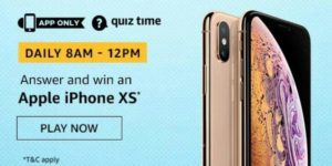 Amazon Quiz Answers Today Win Apple iPhone XS
