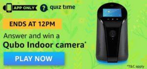 Amazon Quiz Qubo Indoor Camera