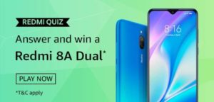 Amazon-Redmi-Quiz-Answers