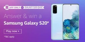 Amazon-Samsung-S20-Quiz