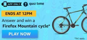 Amazon Quiz Answers Today Firefox Mountain Cycle