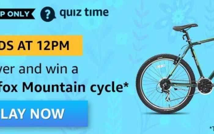Amazon Quiz Answers Today Firefox Mountain Cycle