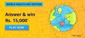 Amazon World Health Day Edition Quiz Answers
