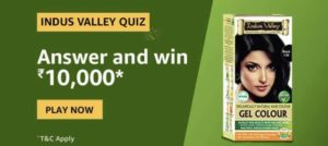Amazon Indus Valley Quiz Win Rs 10000