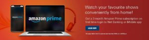 ICICI Free Amazon Prime Subscription